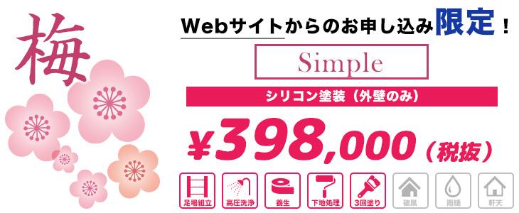 コスト重視のシンプル塗装 【梅パック】